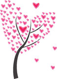 Tree of heart of frame Royalty Free Stock Photos