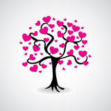 Tree from heart leafs Stock Images