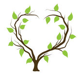 Tree in heart shape. Abstract vector illustration royalty free illustration