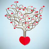 The Tree Heart Valentine's day Royalty Free Stock Photos