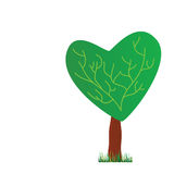 Tree with heart vector illustration Stock Photos