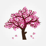 Tree with hearths for valentine or wedding Royalty Free Stock Photography