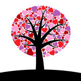 Tree hearts Stock Photo