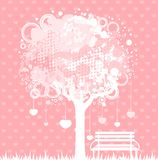 tree with  hearts Stock Photo