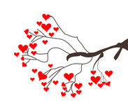 Tree of Hearts. In white background stock illustration