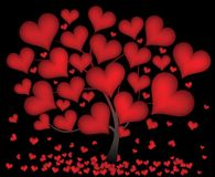 Tree from hearts Stock Images