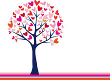 Tree with hearts Stock Photography