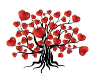 Tree with hearts. Abstract tree with nice hearts Royalty Free Stock Photography