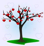 Tree and hearts Royalty Free Stock Photo