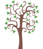 Tree with hearts. Tree with heart shaped leaves Royalty Free Stock Image