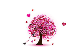 Tree of hearts Royalty Free Stock Image