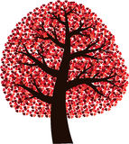 Tree with hearts royalty free stock photos