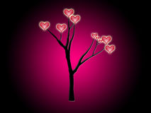 Tree Of Hearts. A tree with love of hearts growing on it Royalty Free Stock Images