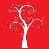 Tree with hearts Royalty Free Stock Image