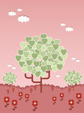 Tree of hearts Stock Images