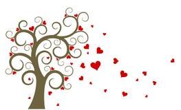 Tree with hearts. Stock Photo