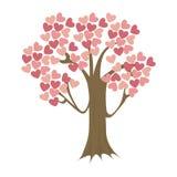 Tree with hearts icon Royalty Free Stock Photo