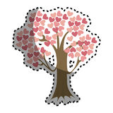 Tree with hearts icon Royalty Free Stock Images