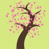 Tree of hearts Royalty Free Stock Image