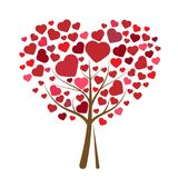 Tree with hearts  illustration Stock Images