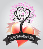 Tree of Hearts Illustration of a Valentines Day Royalty Free Stock Photo