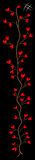 Tree of the hearts. Tree of many hearts and the numbering sign on black field Royalty Free Stock Images