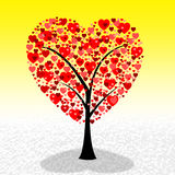 Tree Hearts Represents Valentine Day And Environment Royalty Free Stock Photography