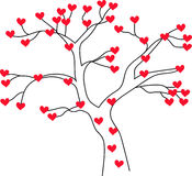 Tree with hearts Stock Photography