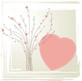 Tree with hearts. Valentine concept. Royalty Free Stock Photography