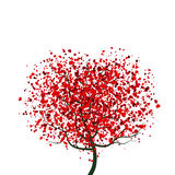 Tree with Hearts Stock Image