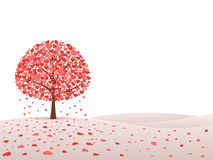 Tree with hearts. Valentine`s day background with tree made out of hearts. Vector illustration on pink background Royalty Free Stock Photography