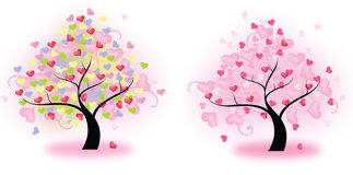 Tree of Hearts (vector). 2 sets of heart trees create by vector Royalty Free Stock Image