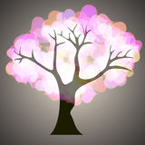 Tree with hearts. Vector. 2 Royalty Free Stock Photos