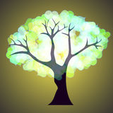 Tree with hearts. Vector. 3 Royalty Free Stock Images