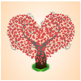 Tree in the hearts Royalty Free Stock Photo