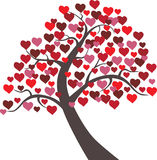 Tree Hearts Vector Floral Valentine Stock Images