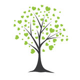 Tree with hearts. Vector illustration Royalty Free Stock Photos