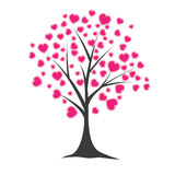 Tree with hearts. Vector illustration Stock Photos
