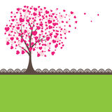 Tree with hearts. Vector illustration Royalty Free Stock Images