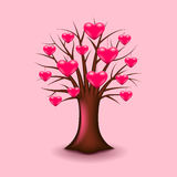 Tree with hearts  vector. Tree with hearts  realistic vector illustration Royalty Free Stock Photos