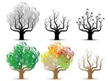 Tree helloween and season series Royalty Free Stock Photos