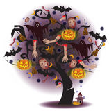 Tree of Horror (Halloween) Royalty Free Stock Photo
