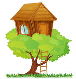 Tree house. Illustration of a small tree house stock illustration
