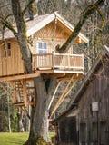 Tree house. Beautiful tree house (near hamburg - germany Stock Photography