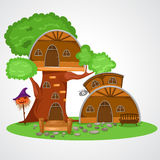 Tree house. Illustration of isolated tree house stock illustration