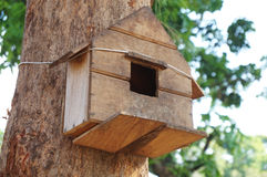Tree house for birds Royalty Free Stock Photo