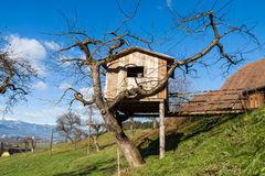 Tree House - Cottage - Farm Royalty Free Stock Photography