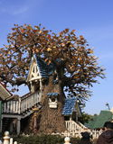 Tree house. A tree house at disneylland in Tokyo stock image