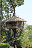 Tree House. In the forest at thailand Royalty Free Stock Image