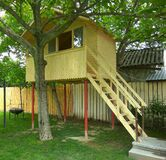 Tree house for kids Stock Images